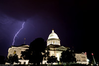 Lightning Over the Arkansas State Capitol
